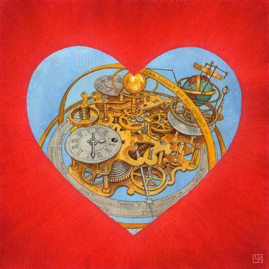 Heart Painting - Andre by Lisa Kretchman