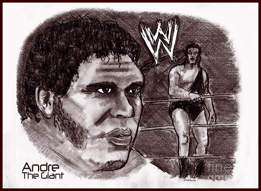 Andre The Giant Drawing - Andre The Giant by Chris  DelVecchio