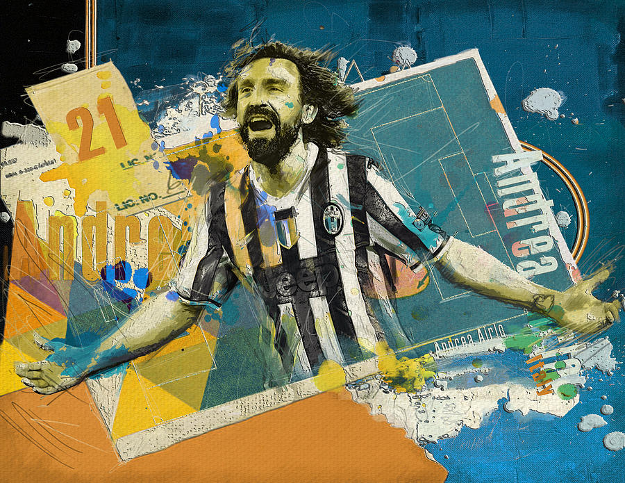 Andrea Pirlo Painting - Andrea Pirlo - B by Corporate Art Task Force