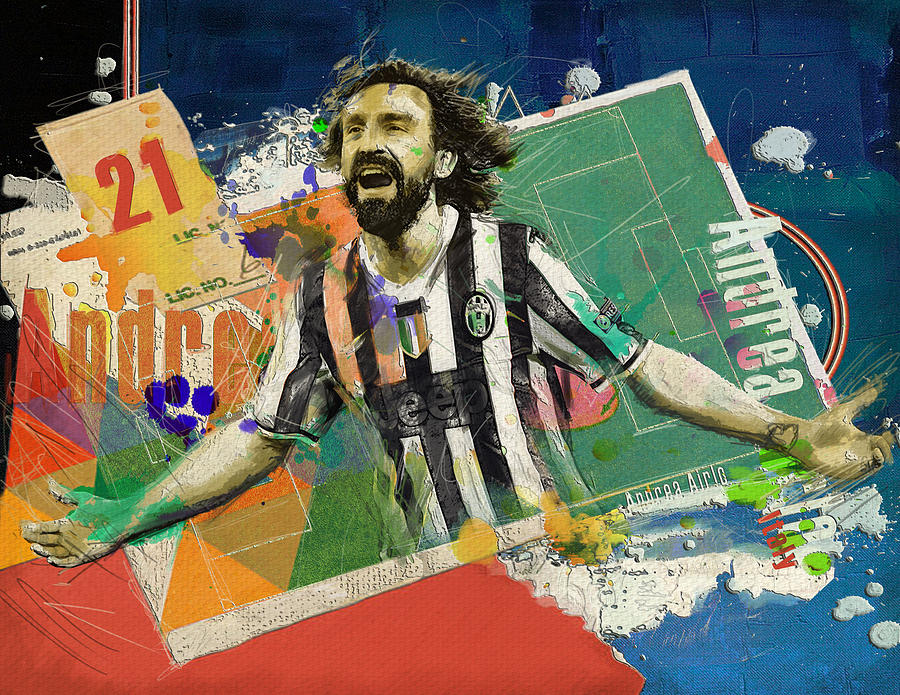 Andrea Pirlo Painting - Andrea Pirlo by Corporate Art Task Force
