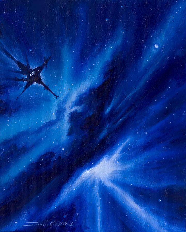 Stars Painting - Andreas Nebula by James Christopher Hill
