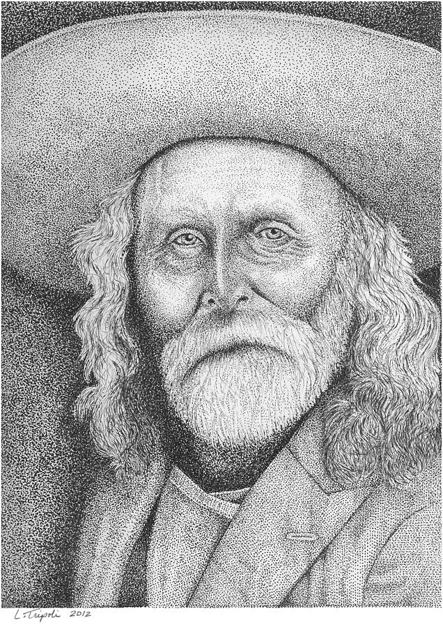 Western Drawing - Andrew Garcia - Frontiersman by Lawrence Tripoli