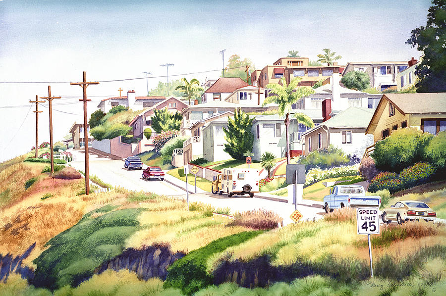 San Diego Painting - Andrews Street Mission Hills by Mary Helmreich