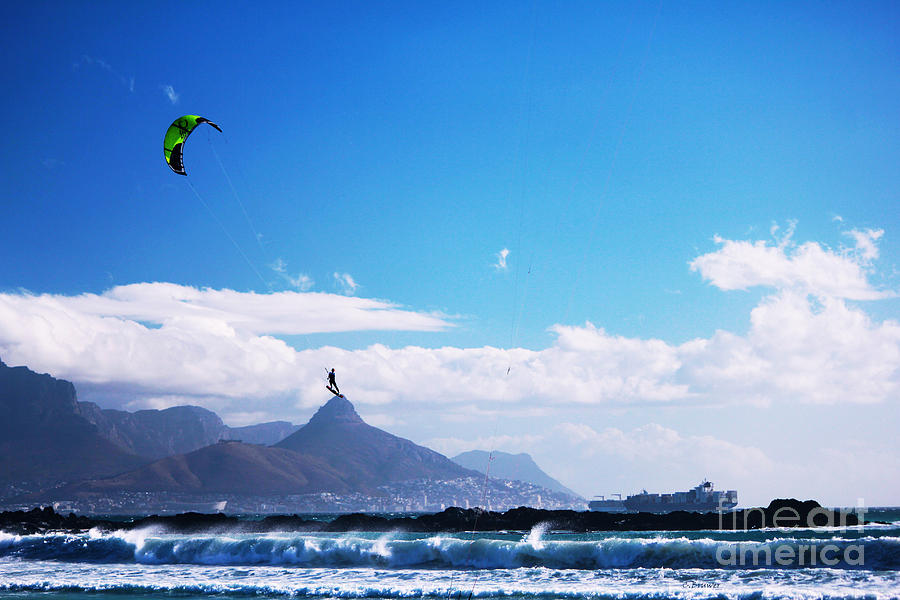 Kiteboarder Photograph - Andries - Redbull King Of The Air Cape Town  by Charl Bruwer