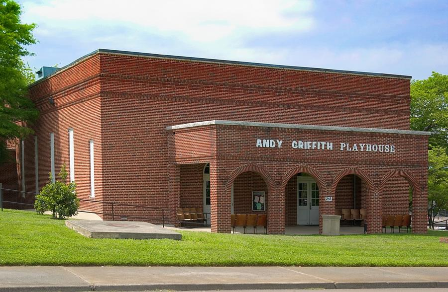 Mt. Airy Photograph - Andy Griffith Playhouse Nc by Bob Pardue