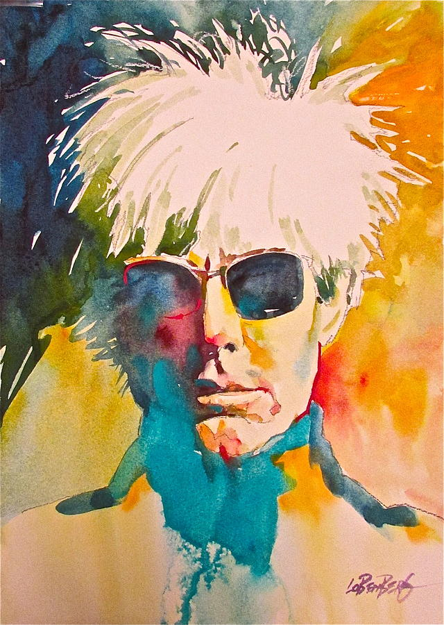 Portraiture Painting - Andy Warhol by David Lobenberg