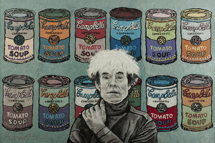Andy Warhol Mixed Media - Andy Warhol by Heidi Hooper