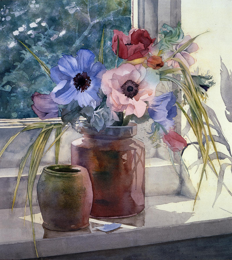 Illustration Photograph - Anemones by Julia Rowntree
