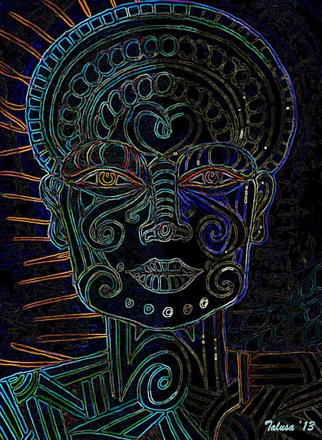 Blue Digital Art - Anencephaly Angel by Teleita Alusa