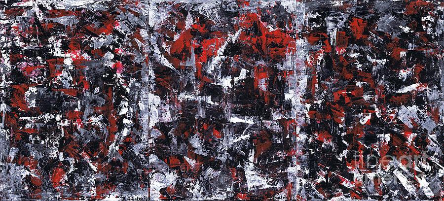 Aneurysm Painting - Aneurysm 1 - Triptych by Kamil Swiatek