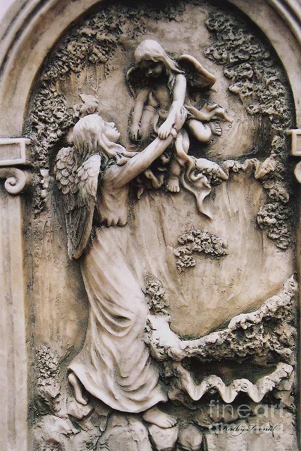 Angel Art Angel Holding Baby Child Angel Guardian