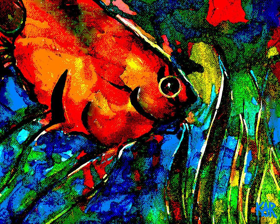 Fish Digital Art - Angel by Art by Kar