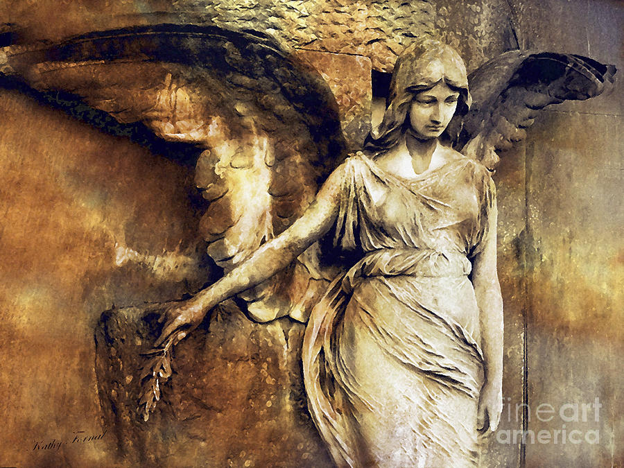 Angel art surreal gothic angel art photography dark for Angel paintings for sale