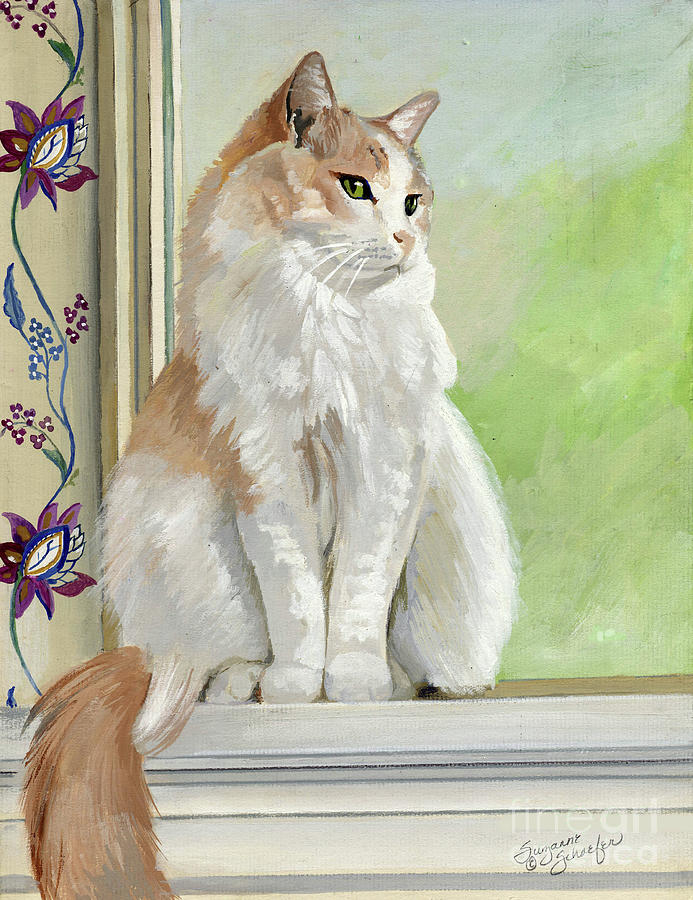 Cats Painting - Angel Daydreams by Suzanne Schaefer
