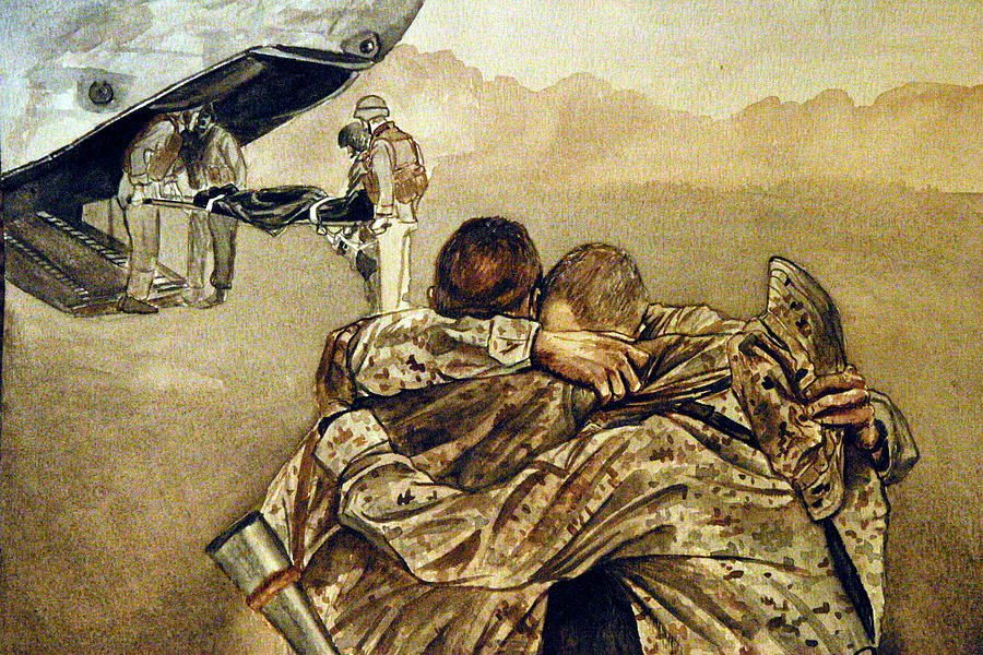 Marine Painting - Angel Flight by Annette Redman