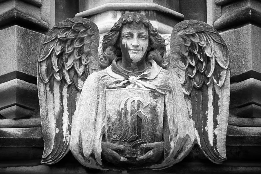 Gargoyle Photograph - Angel Gargoyle University Of Chicago by Joseph Duba