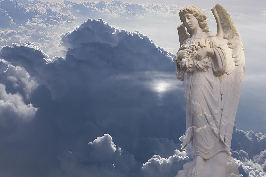 Angel Photograph - Angel In The Clouds by Jim Zuckerman