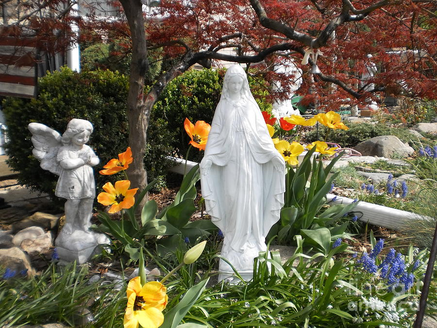 Angel In The Garden Photograph