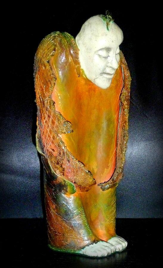 Ceramic Sculpture - Angel in Waiting by Satya Winkelman
