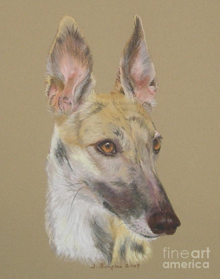 Greyhound Pastel - Angel by Joanne Simpson