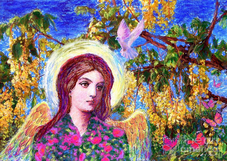 Angel Painting - Angel Love by Jane Small