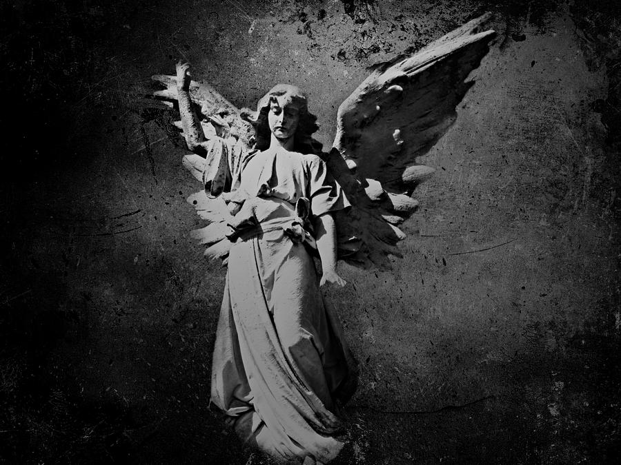 Angel Photograph - Angel Of Death Bw by David Dehner