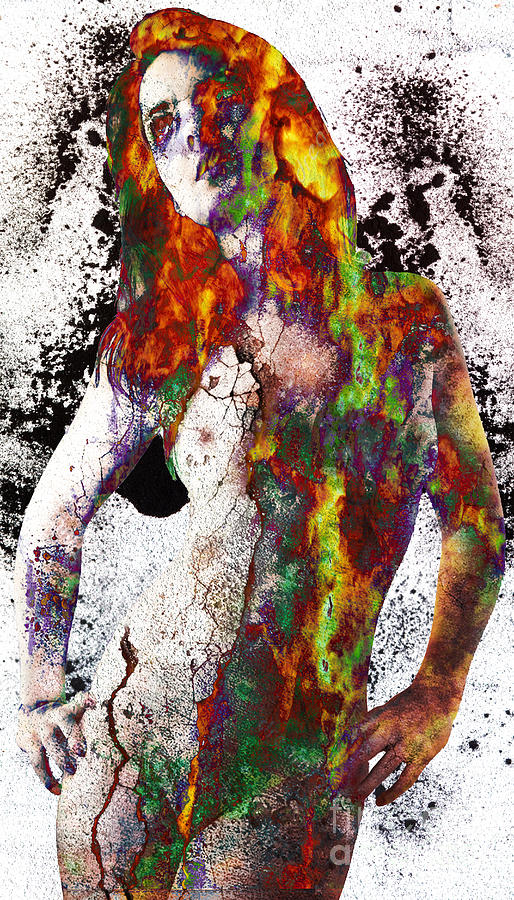Nude Digital Art - Angel Of Debris by Michael Volpicelli