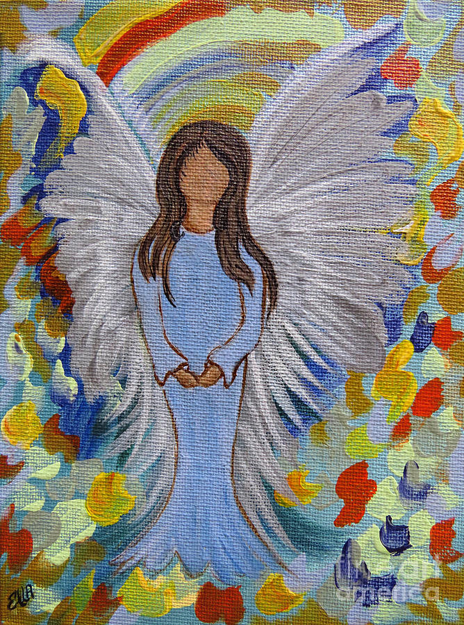 Angel Painting - Angel Of Devotion by Ella Kaye Dickey