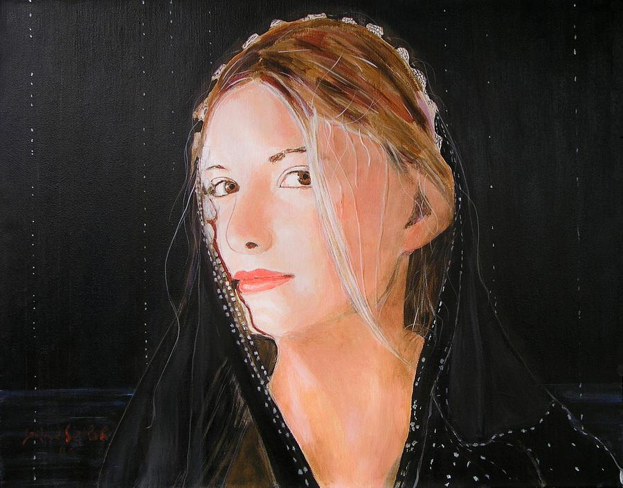 Woman Painting - Angel of Love by Jean-Paul Setlak