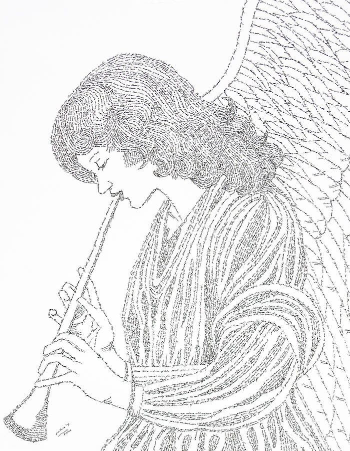 Angels Drawing - Angel Of Music by Lorraine Foster