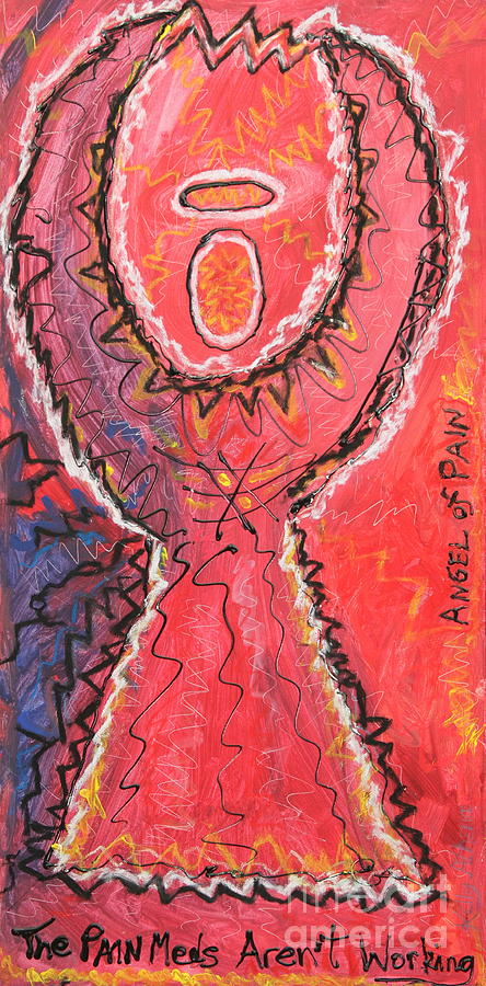 Angel Painting - Angel Of Pain by Kelly Athena