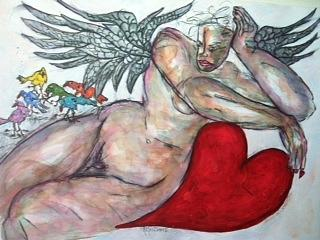 Angel Painting - Angel Of Serenity by Suzanne Macdonald