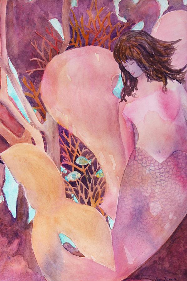 Mermaid Painting - Angel Of The Sea by Teri  Jones