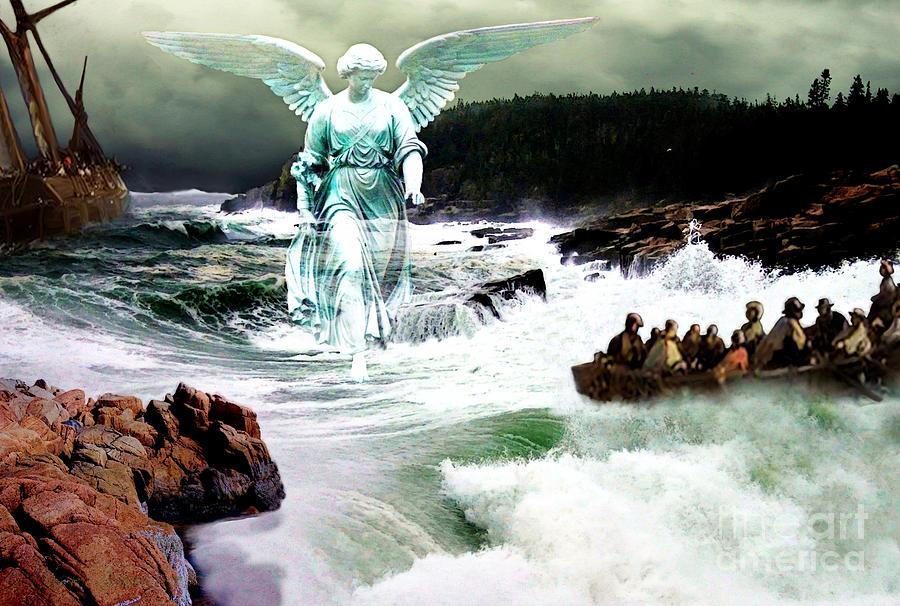 Angel Digital Art - Angel Of The Storm  by Lianne Schneider