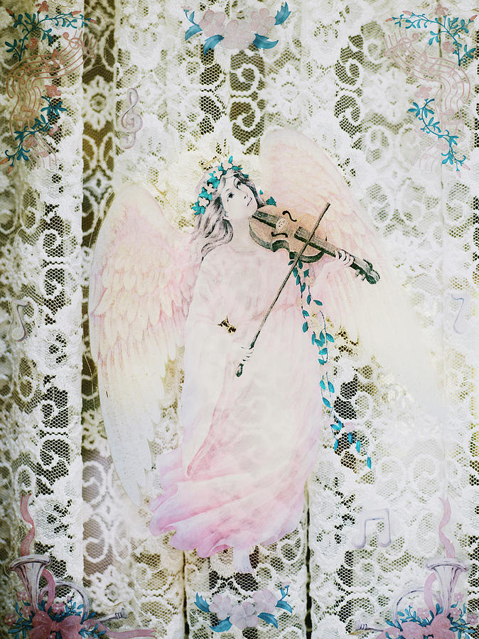 Angel Playing Violin, Close-up Photograph by Johner Images