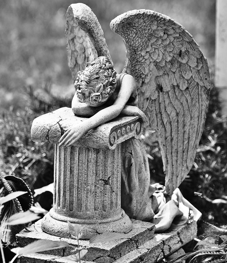 Black And White Photograph - Angel Prays by Al Fritz