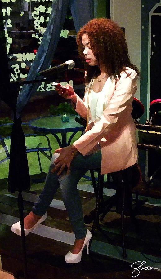 Poet Digital Art - Angel Reciting Poetry by Shawn Lyte
