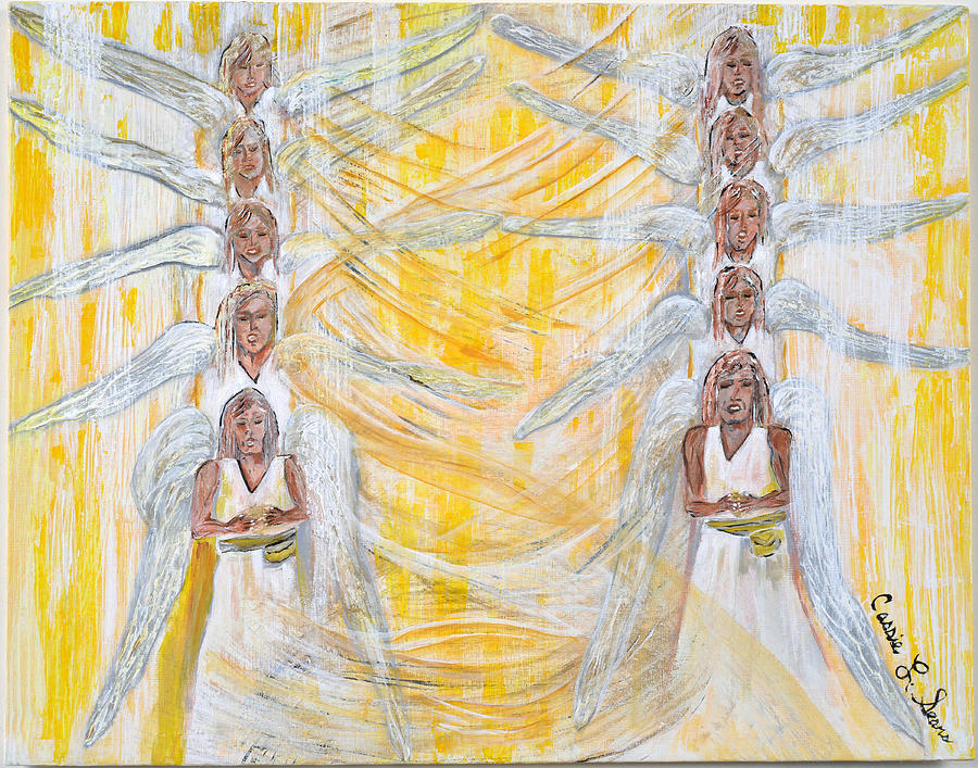 Angel Winds Flames Of Fire Painting