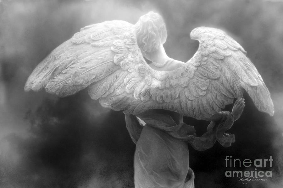 Angel wings photograph angel wings dreamy surreal angel wings black and white fine art