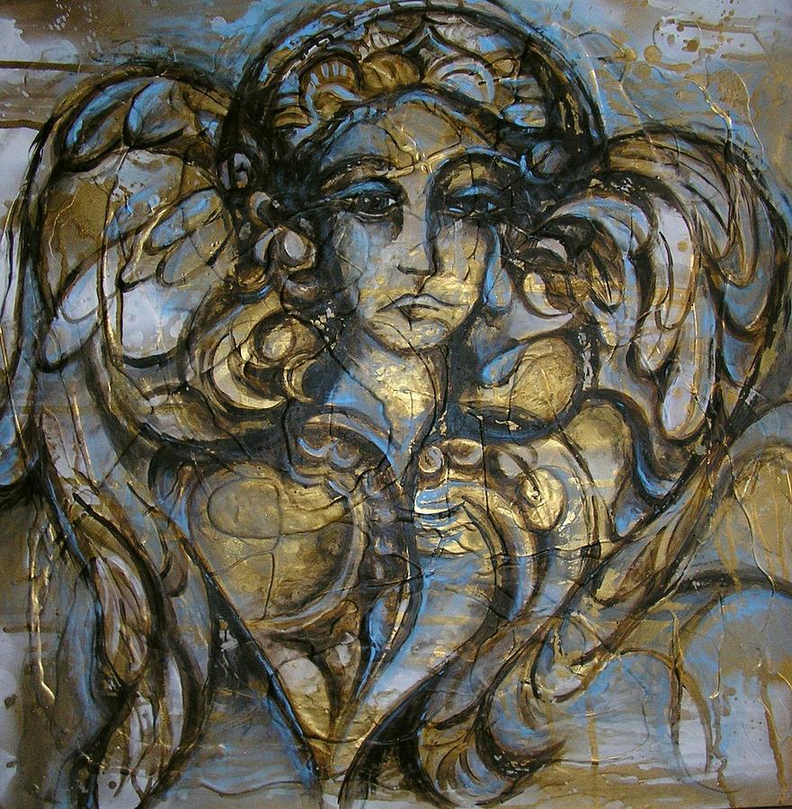 Angel Painting - Angelic Sorrow by Julie Lee