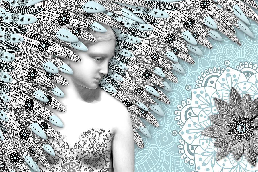 Angel Digital Art - Angelica Hiberna - Angel Of Winter by Christopher Beikmann