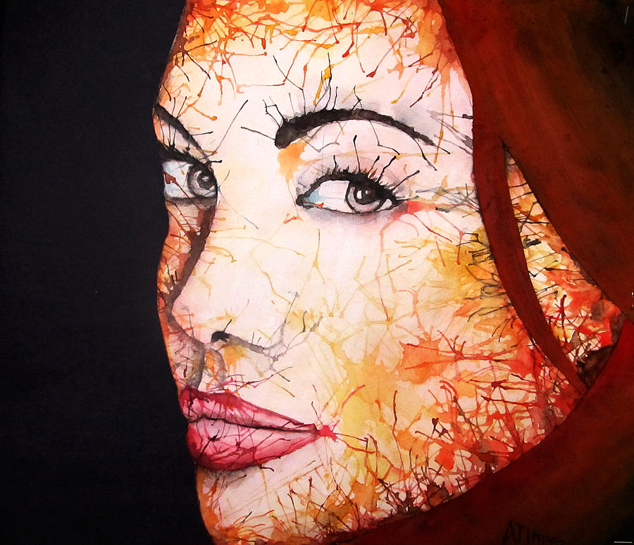 Girl Painting - Angelina by Atinderpal Singh