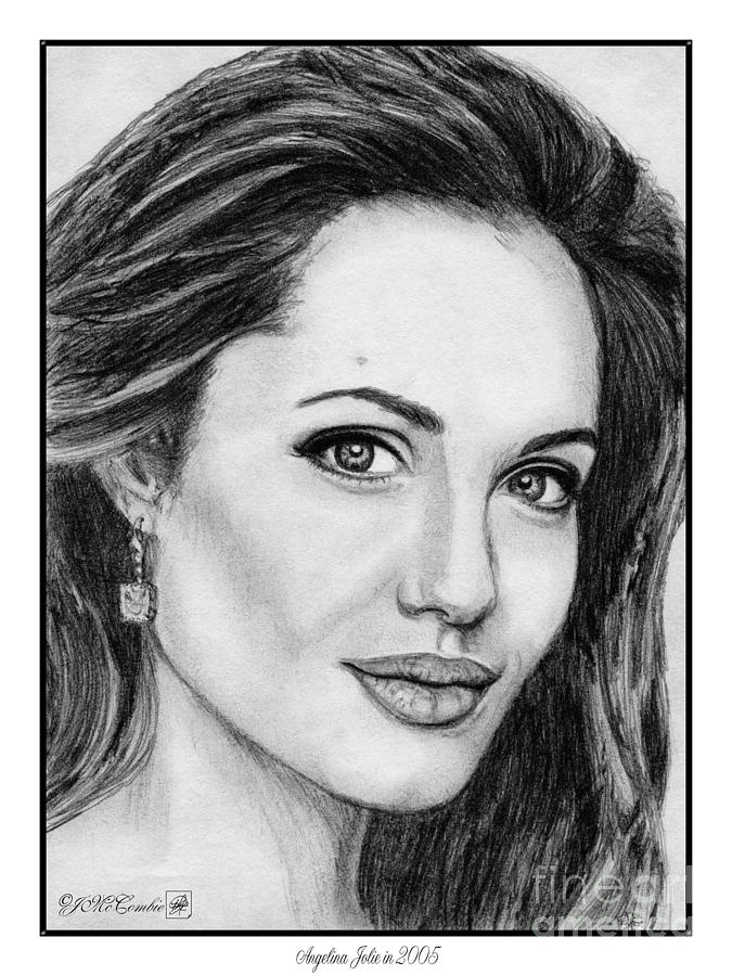 Angelina Jolie Drawing - Angelina Jolie In 2005 by J McCombie
