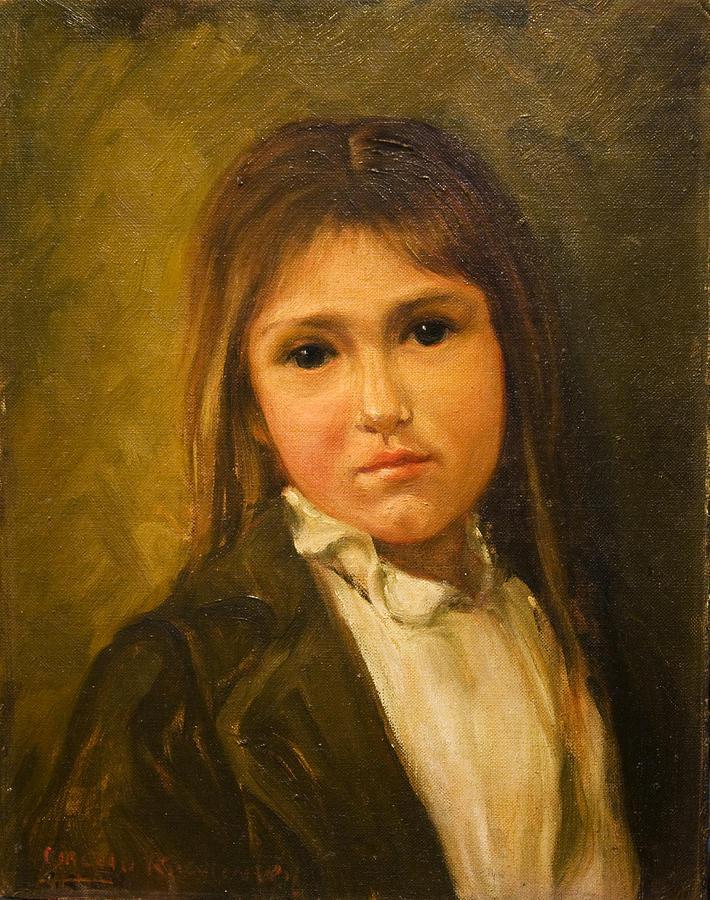 Girl Painting - Angelina by    Michaelalonzo   Kominsky
