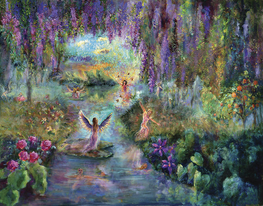 angels and fairies painting by shari silvey