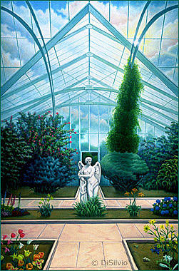 Atrium Painting - Angels Conservatory by Rich DiSilvio