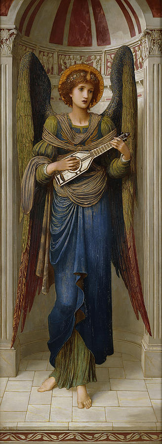 Alcove Painting - Angels by John Melhuish Strudwick