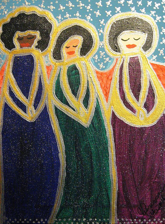 Angels Of Mercy Painting - Angels Of Mercy by Clarissa Burton