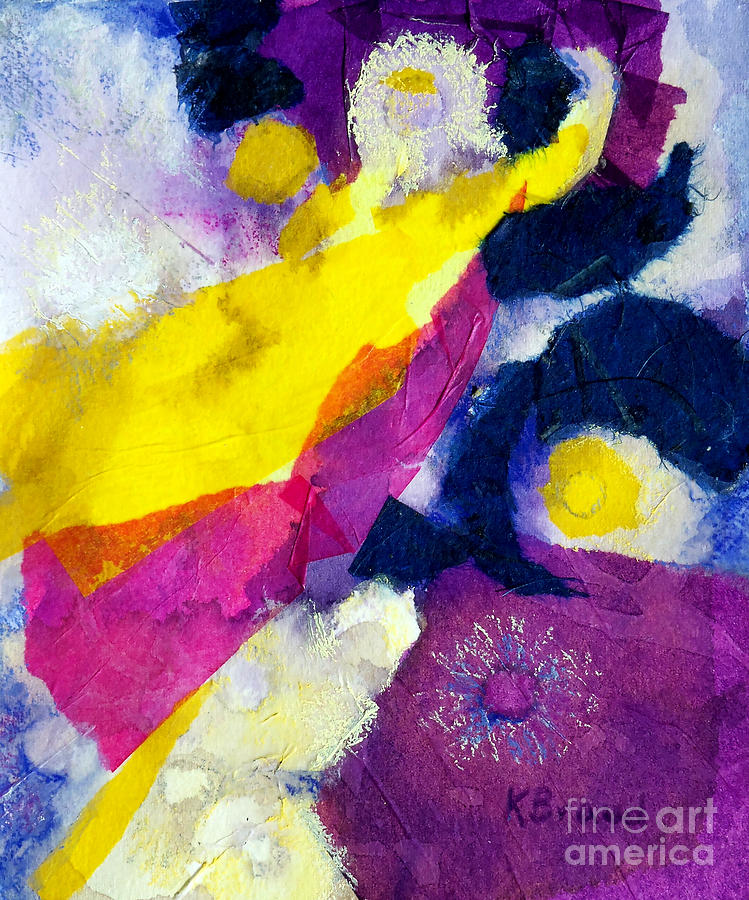 Paintings Painting - Angels Surround Me by Kathy Braud