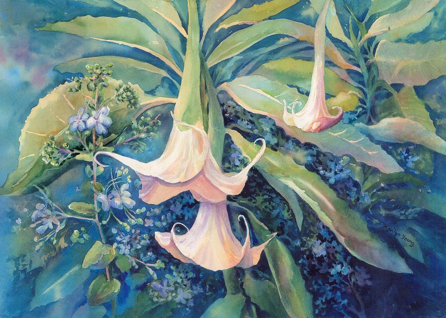 Angels Trumpets II by Marilyn Young